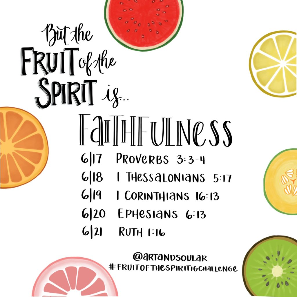 Jordan Tailored - Fruit of the Spirit IG Challenge - Faithfulness - Art and Soul AR