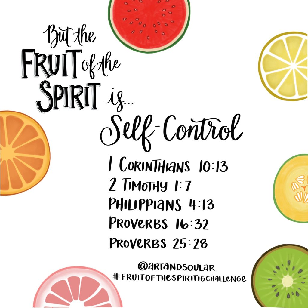 Jordan Tailored - Art and Soul - Fruit of the Spirit Instagram Challenge - Self Control