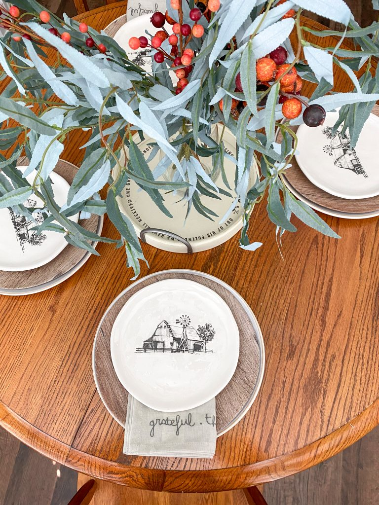 Simple Fall Tablescape from Hobby Lobby - Jordan Tailored